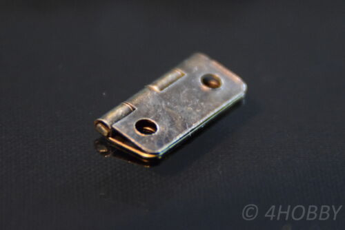 Schatulle 16x13mm Braun 10 Mini-Scharniere für Schmuckkästchen Antik-Look