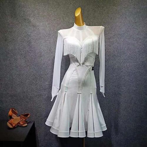 NEW Latin Ballroom Dance Dress Modern Salsa Waltz Standard Long Dress#GG268