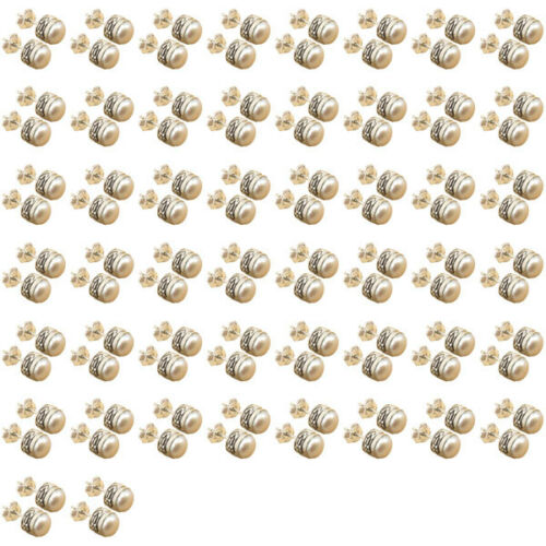 Wholesale 50 100 Pairs 925 Silver Plated WHITE SEA PEARL Stud Post Earrings