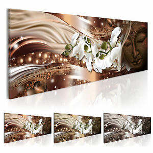 leinwand bilder xxl fertig aufgespannt bild blumen buddha h a 0056 b b ebay. Black Bedroom Furniture Sets. Home Design Ideas