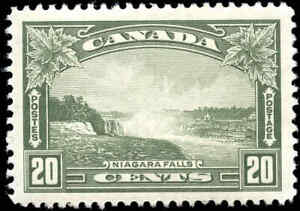 Mint-H-Canada-20c-F-VF-1935-Scott-225-King-George-V-Pictorial-Stamp