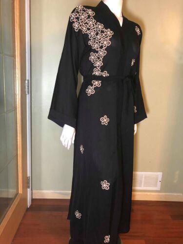 XL Fancy Khaleeji Abaya Arabic Button Up Half Open Jilbab Made in Dubai  L