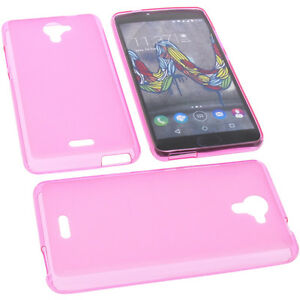Case-for-Wiko-U-Feel-Fab-Cellphone-Case-Protective-Cover-TPU-Rubber-Case-Pink