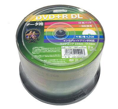 50 Hi-Disc DVD+R DL Dual Layer DVD Discs Inkjet Printable DVD 8.5GB 8x Speed