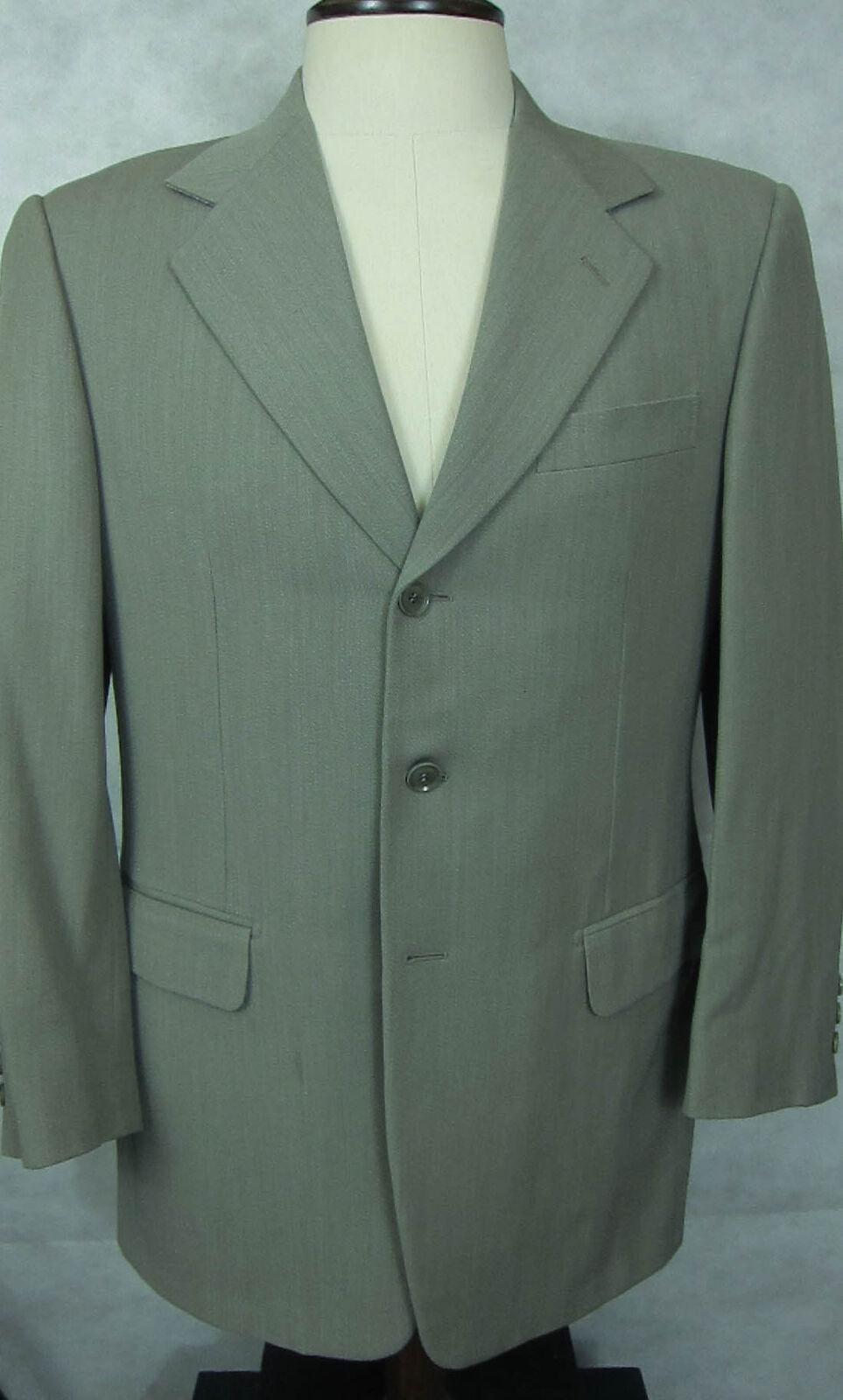 Neuwertig Pal Zileri Hellgrey 4Season Gewicht Wollanzug Hergestellt in Italien