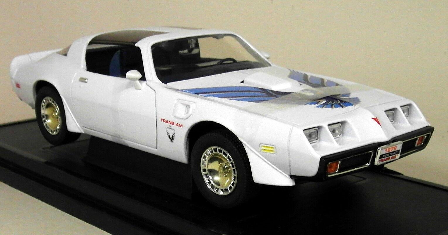 Road Signature 1 18 Scale 1979 Pontiac Firebird Trans Am White Diecast Model Car