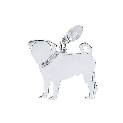 """Silver Pug Dog Pendant Solid Silver 925 Hallmark Pet Jewellery 14-30"""" Chain Goederen Van Elke Beschrijving Zijn Beschikbaar"""