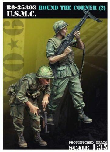 Round the Corner Deux debout figures vietnam 1//35 Scale resin model kit 2