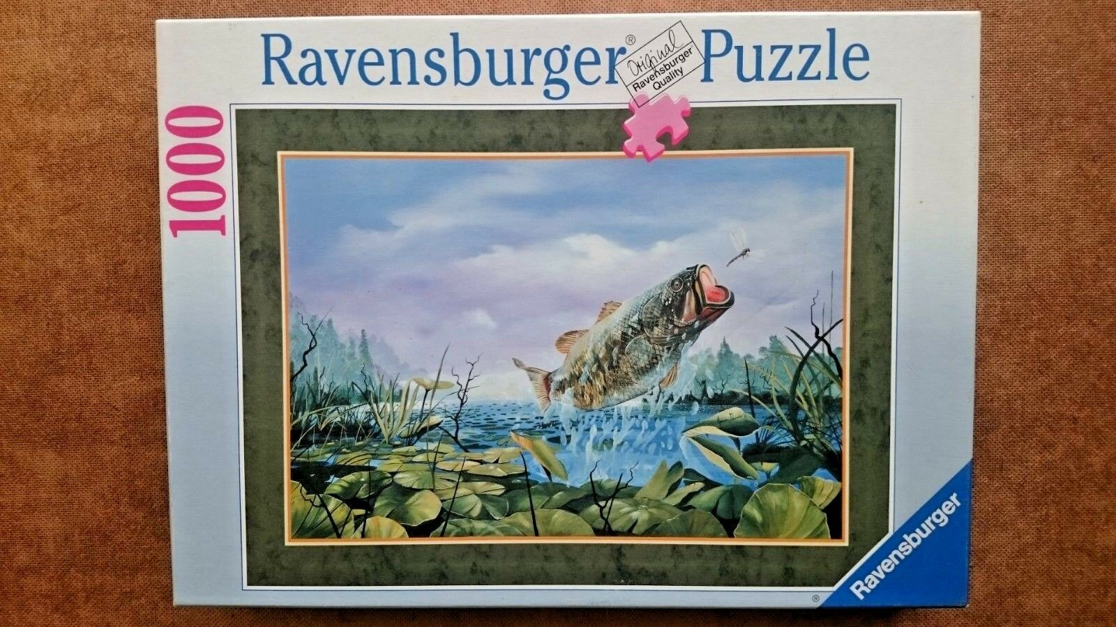 Largemouth Bass  Fly Trap 1000 Piece Jigsaw Puzzle by Ravensburger 1998
