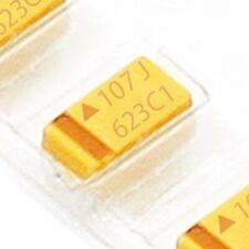 10PCS 6.3V 100UF B case 107J ±10/% SMD Tantalum Capacitors 3.5mm×2.8mm