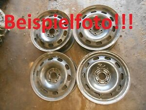 2x-Stahlfelge-2-Stueck-Stahlfelgen-VW-Audi-Seat-Skoda-15zoll-6jx15H2ET38-LK5x100