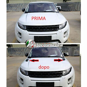 2-Cover-Prese-D-039-aria-Cofano-Anteriore-Range-Rover-Evoque-in-abs-Nero-lucido