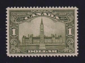 Canada Sc #159 (1929) $1 olive green Parliament Mint VF XLH