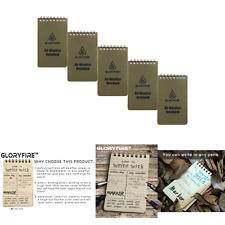 Gloryfire Waterproof Notebook Tactical All Weather Spiral Memo Paper Notepad