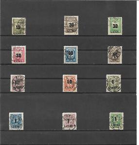 Memel-Litauen-1923-Auswahl-aus-Michelnummern-193-205-o-alle-geprueft-BPP