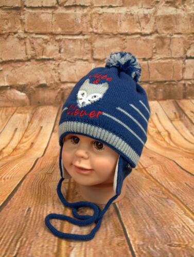 Wintermütze Jungenmütze Kindermütze Mütze Bommelmütze Jungen neu Größe 44-48