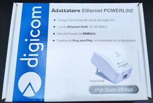Digicom PowerLan 85 adattatore ethernet powerline high speed 85 Mbps