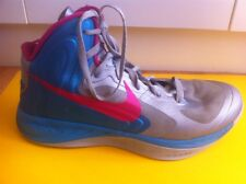 NIKE Hyperfuse Zoom Basketball Boots Men's Size 8 Women's Size 10 Hi Tops Blue