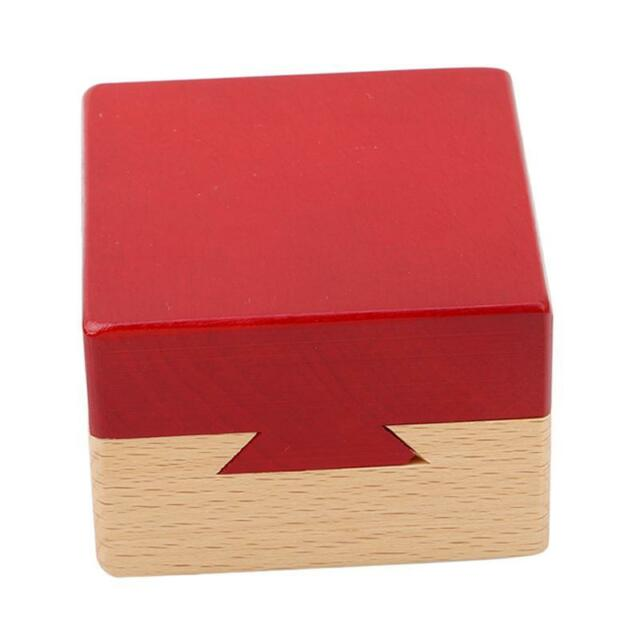 Mini 3D Brain Teaser Wooden Magic Drawers Gift Jewelery Box Puzzle Toy Game J
