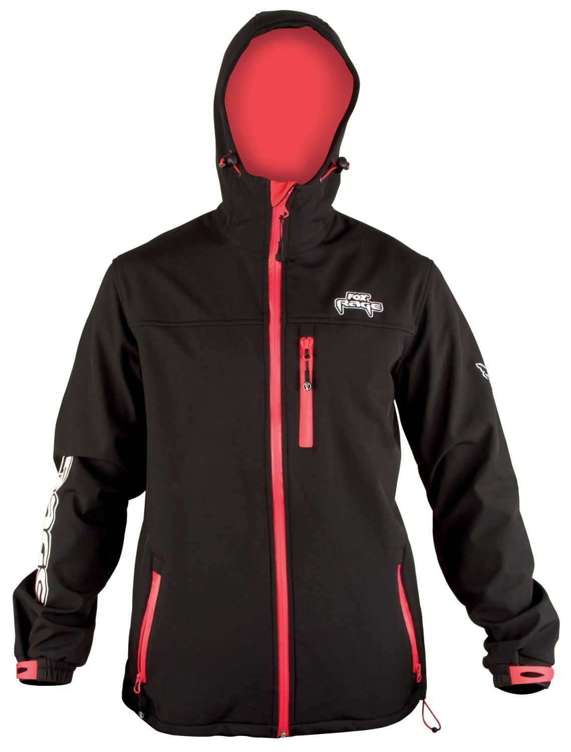 Fox Rage hooded nero Soft Shell Jacket Softshell Giacca Giacca ANGEL TG S