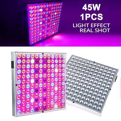 45W LED Grow Light Plant Full Spectrum Panel Hydro Veg Seed Flower Indoor Lamp