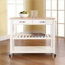 Item 2 Natural Wood Top Kitchen Cart/Island With Optional Stool Storage In  White Finish  Natural Wood Top Kitchen Cart/Island With Optional Stool  Storage In ...