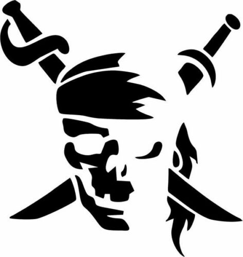 Pirate Stencil A4//A5//A6