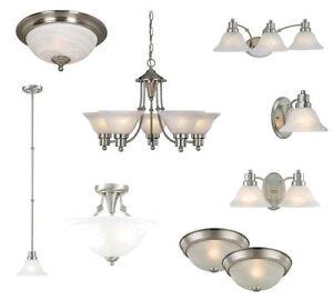 Satin Nickel Ceiling Lights Bathroom Vanity Chandelier Lighting - Brushed nickel bathroom ceiling light fixtures