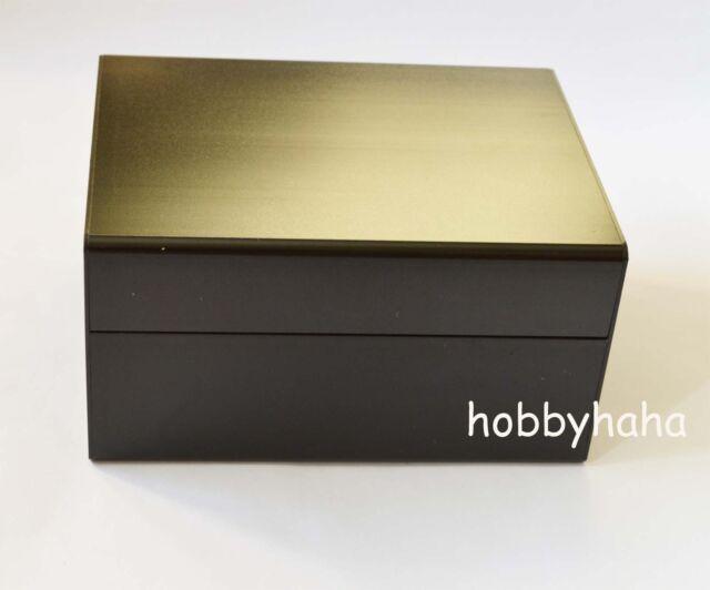 1pcs Black  Electrical Instruments Aluminum Box /Enclosures 155*120*82mm DIY