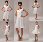 Sexy Ivory Cocktail Dress Party Formal Evening Bridal Prom Dresses Wedding Gown