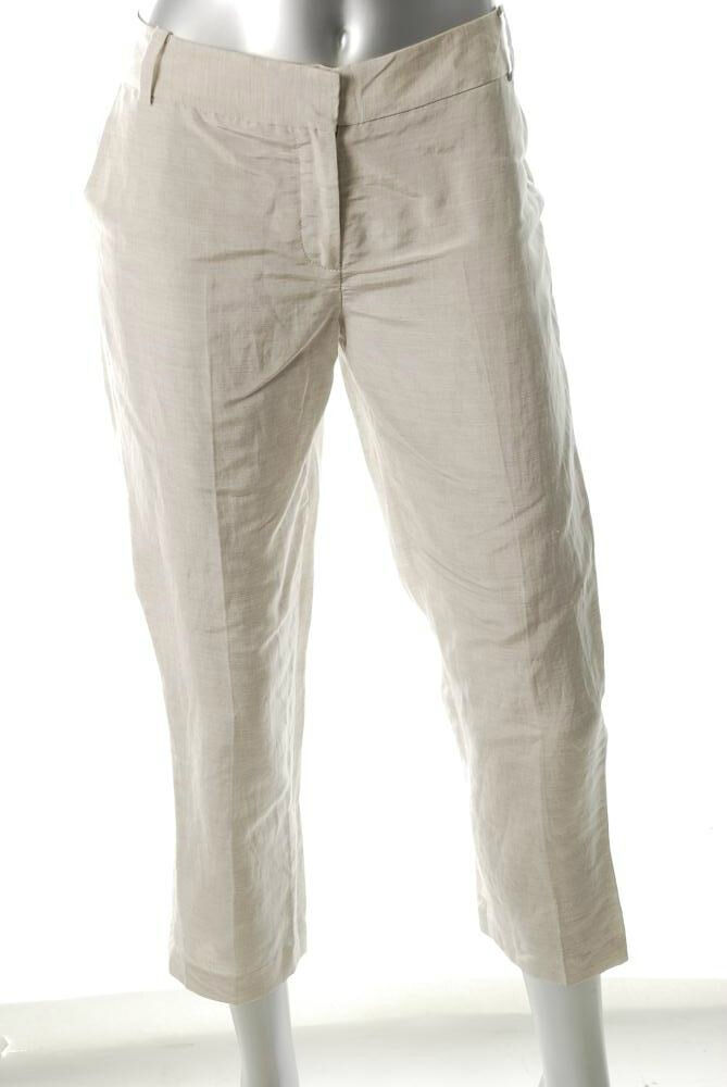 NWT Diane Von Furstenberg Georginne Natural Crop Pants 4  285