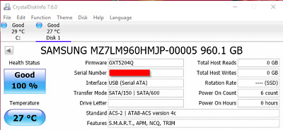 Samsung 960GB SSD PM863a MZ-7LM960N 5711783897231   eBay