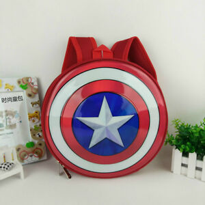 c51a66719e Image is loading Captain-America-Shield-Backpack-Marvel-Avengers-Superhero- School-