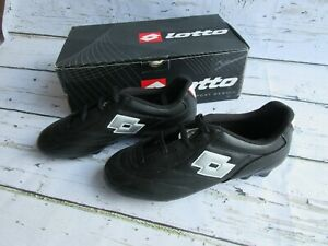 Lotto-Youth-Calcio-HG-R-JR-Soccer-Cleat-Shoes-HG-Black-Silver-Kids-E2850-NOS