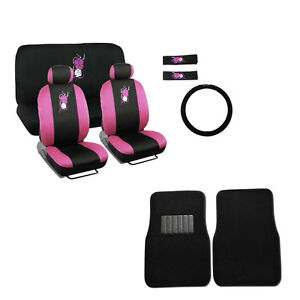 New pink hawaii hawaiian flower car seat covers steering wheel cover image is loading new pink hawaii hawaiian flower car seat covers mightylinksfo
