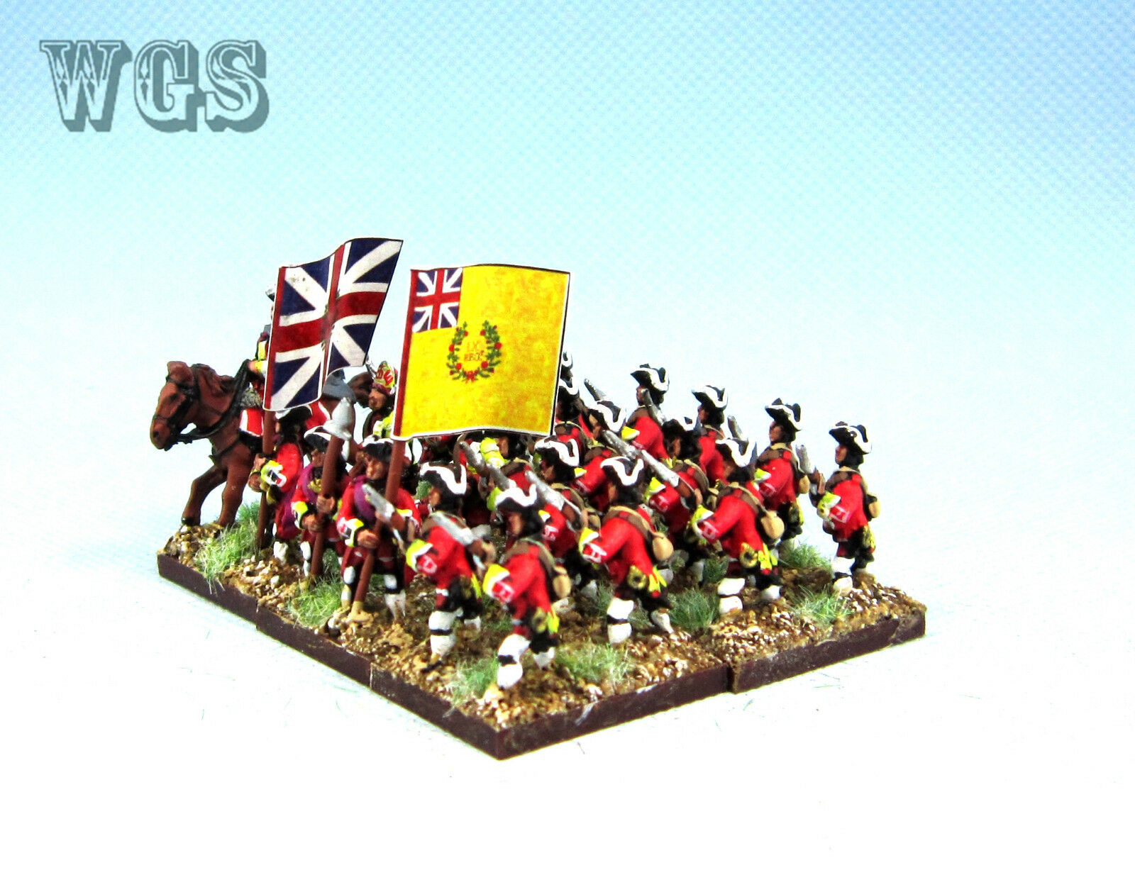 15 syw sieben jahre krieg britische musketier adavancing ba13 wgs gemalt