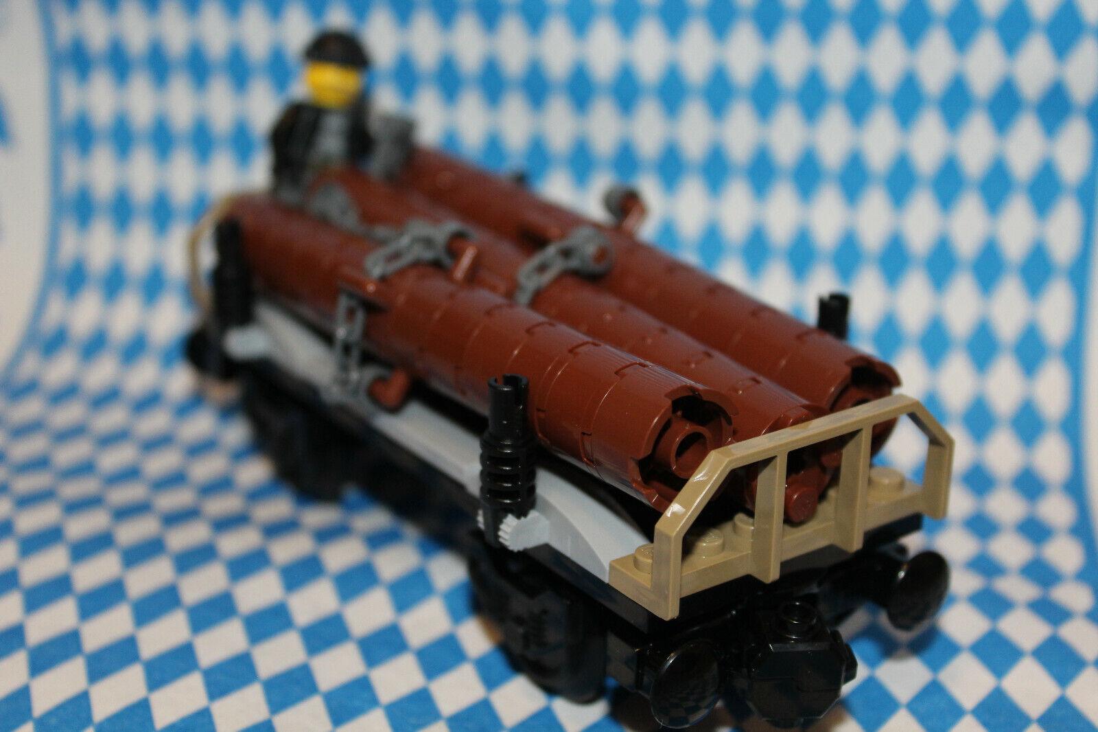 RC 60198 4564, BLITZVERSAND *** Container-Waggon für Lego Eisenbahn 9V 4563