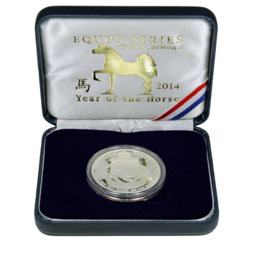 1oz .999 Fine Silver Arabian Stallion Najjar LerMond Year of the Horse 2014