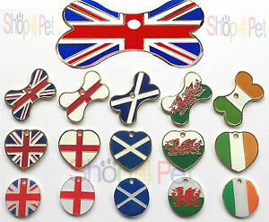Dog-Cat-Tag-Country-Flag-Designs-Various-Shapes-PET-ID-TAGS-ENGRAVING-OPTIONS