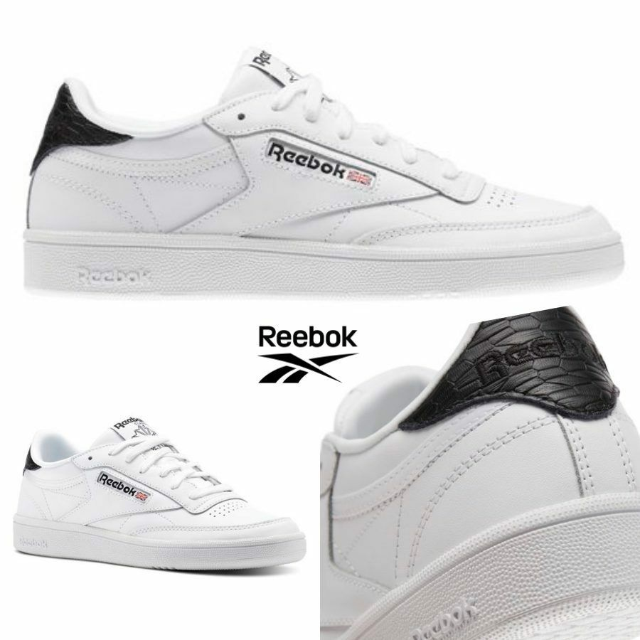 Reebok Classic Club C 85 Emboss Running shoes Sneakers White BS9526 SZ 4-12.5