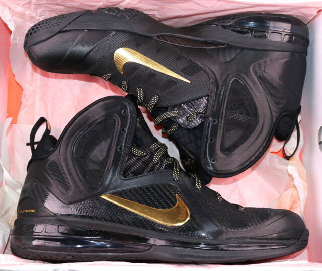 ab1b6ecc2db2 Nike Lebron 9 P.s. Elite Sz 13 Black Metallic Gold Away Edition Witness MVP  for sale online