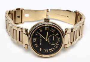 31087c5d653f MICHAEL KORS Skylar MK5989 Black Dial Gold-tone Ladies Watch 0229 ...