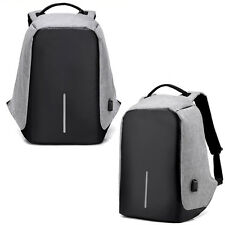 Gray Anti-Theft XD Backpack Travel Bag Water Repellent Design USB Port