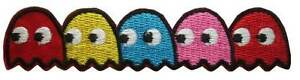 Pacman-Ghosts-Video-Game-Pac-man-Retro-Iron-On-Patch-Sew-on-Embroidered-New