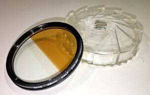 Hoya-49mm-Half-Colour-Orange-Brown-Filter-with-case-Japan-made-1990s