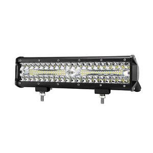12 Inch LED Work Light Bar Spot Flood Combo Beam Offroad Driving Lights 4WD 4x4