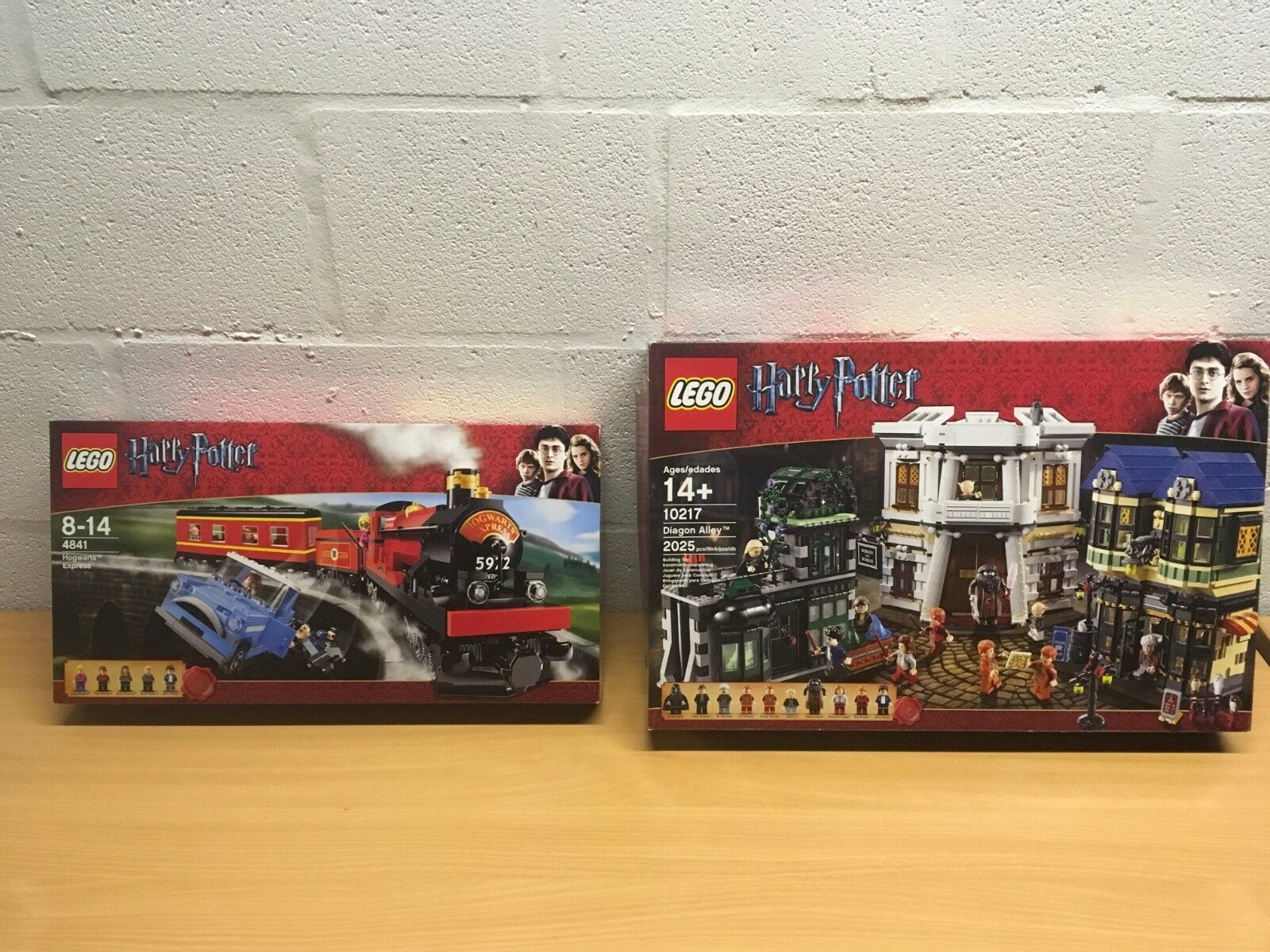 LEGO HARRY POTTER 4841 10217 NEW SEALED DIAGON ALLEY HOGWART'S EXPRESS