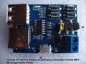 module audio Player TF carte U disque amplificateur décodeur format MP3 .C94.2