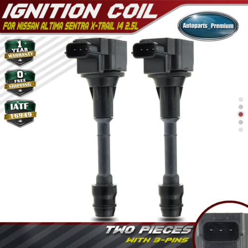 2x Ignition Coils Pack for Nissan X-Trail 2002-2013 Altima Sentra 02-06 I4 2.5L