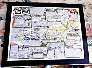 Map Of Old Route 66 Arizona.Lovely Colored Cartoon Map Of Old Route 66 Arizona Texas California